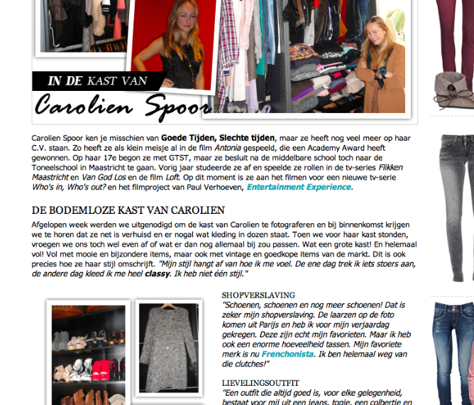 Carolien Spoor for Fashionchick.nl