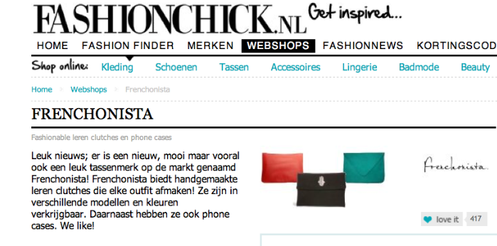 Frenchonista on Fashionchick.nl
