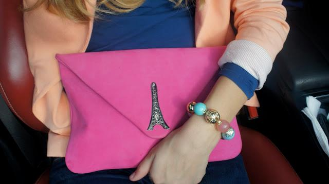 Lavinia with her Lavinia clutch