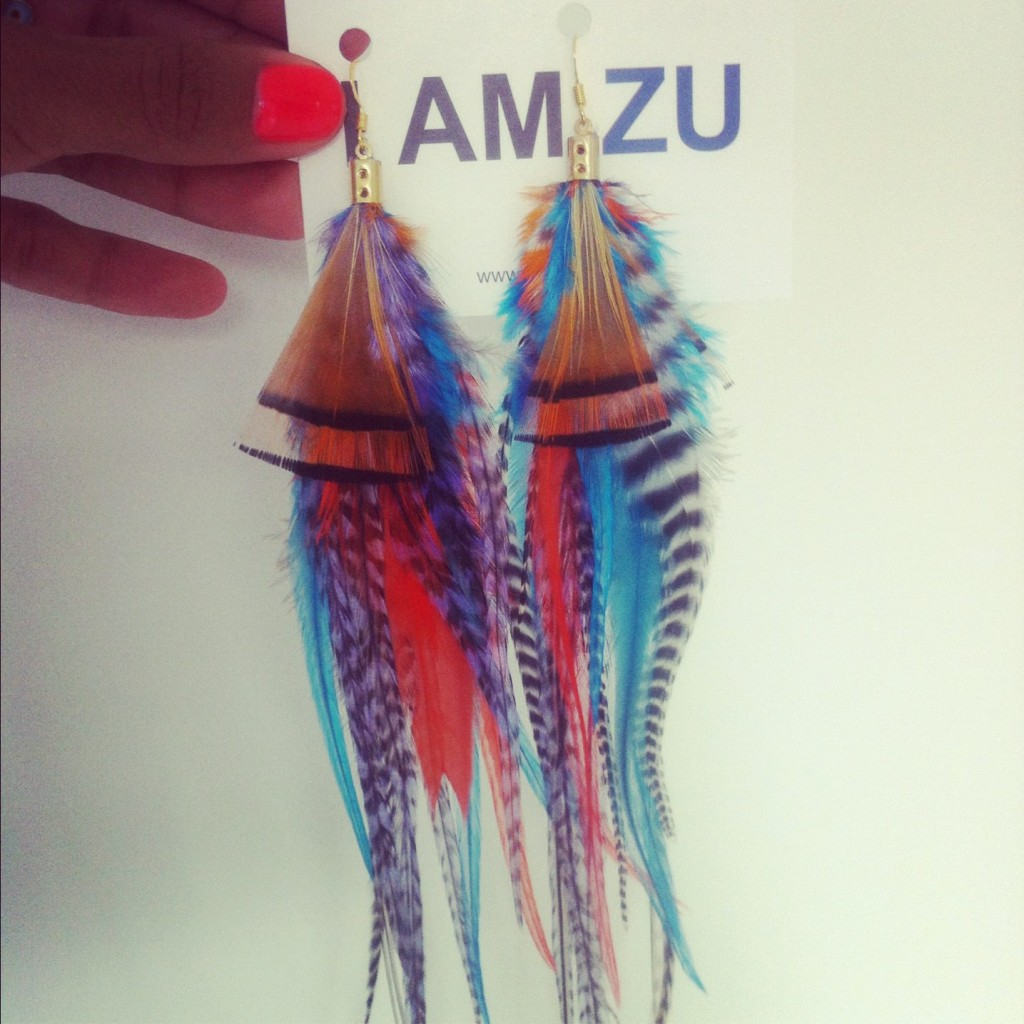 I Am Zu Feather Earings Giveaway!
