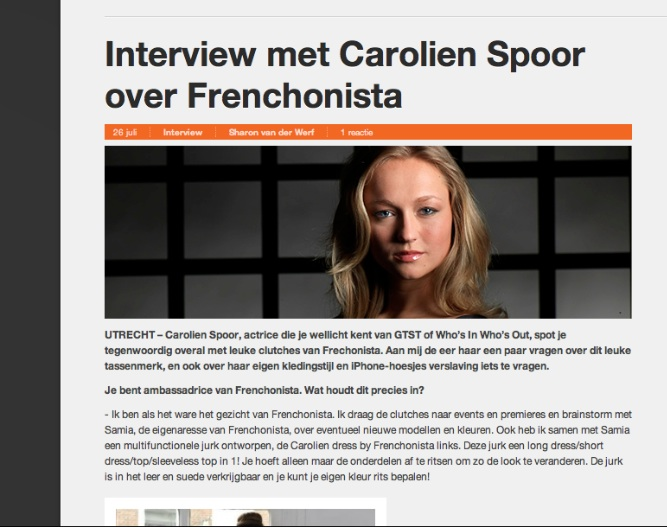 Carolien Spoor first interview about Frenchonista!