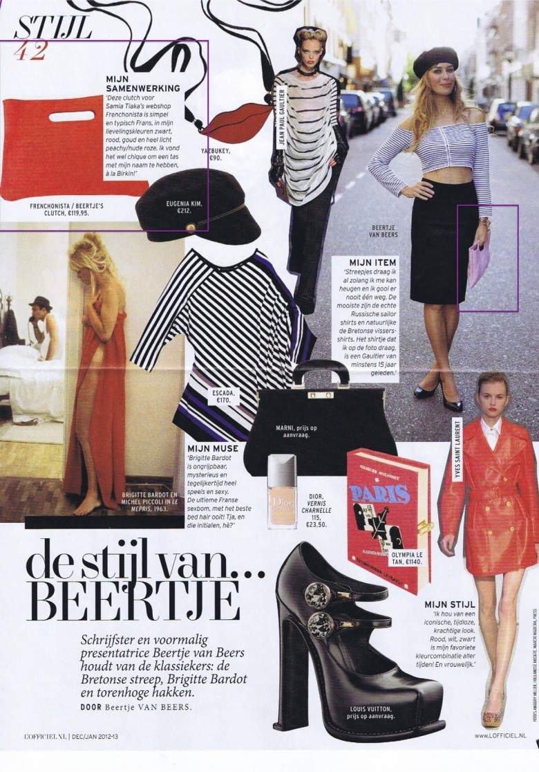 Beertje's Clutches in L'officiel!