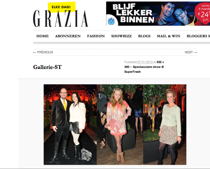 Carolien Spoor Spotted in Grazia.nl with The Vieux Rose Angeline's Clutch!