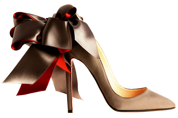 """""""Courtesy of Christian Louboutin."""" Anemone Taupe - in show"""