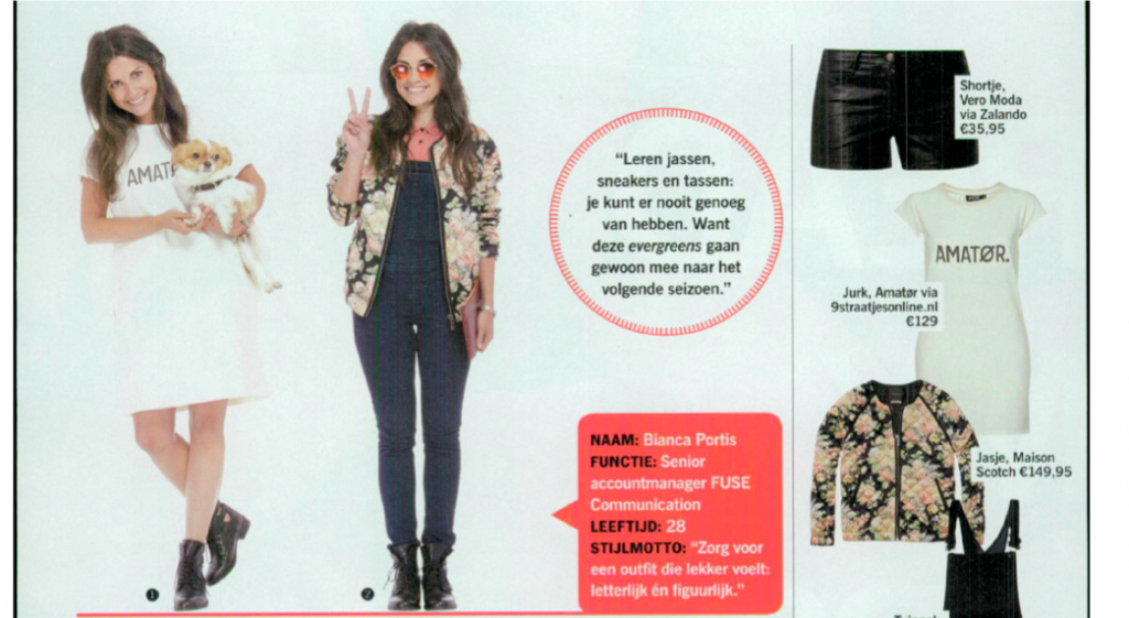 Karlijn Clutch and Frenchonista's Dog Chico Spotted on the Dutch Cosmopolitan!