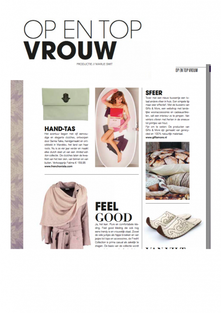 Op en Top Vrouw in Dutch Tulp Magazine!