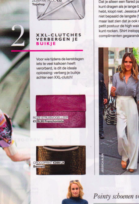 Rose Clutch in Dutch Grazia Magazine