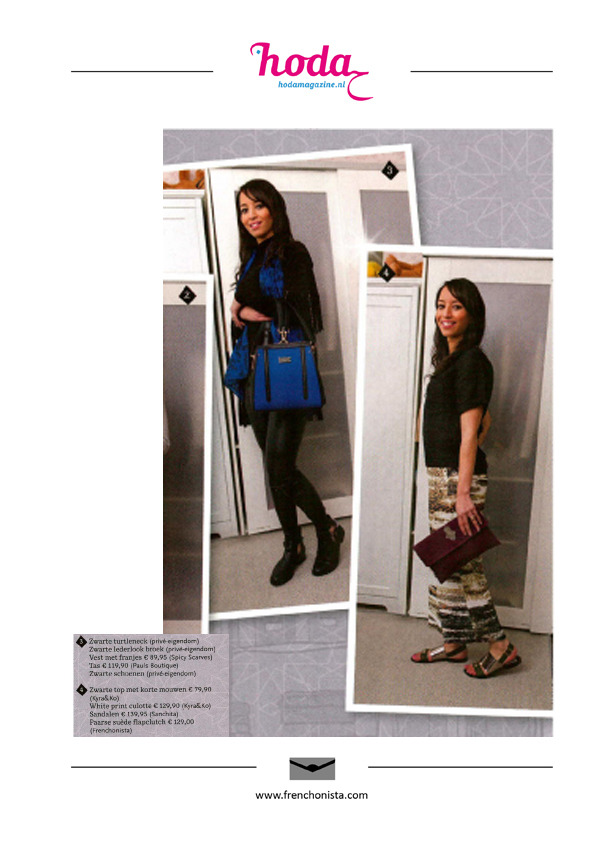 Fatima Clutch Spotted in Hoda Magazine